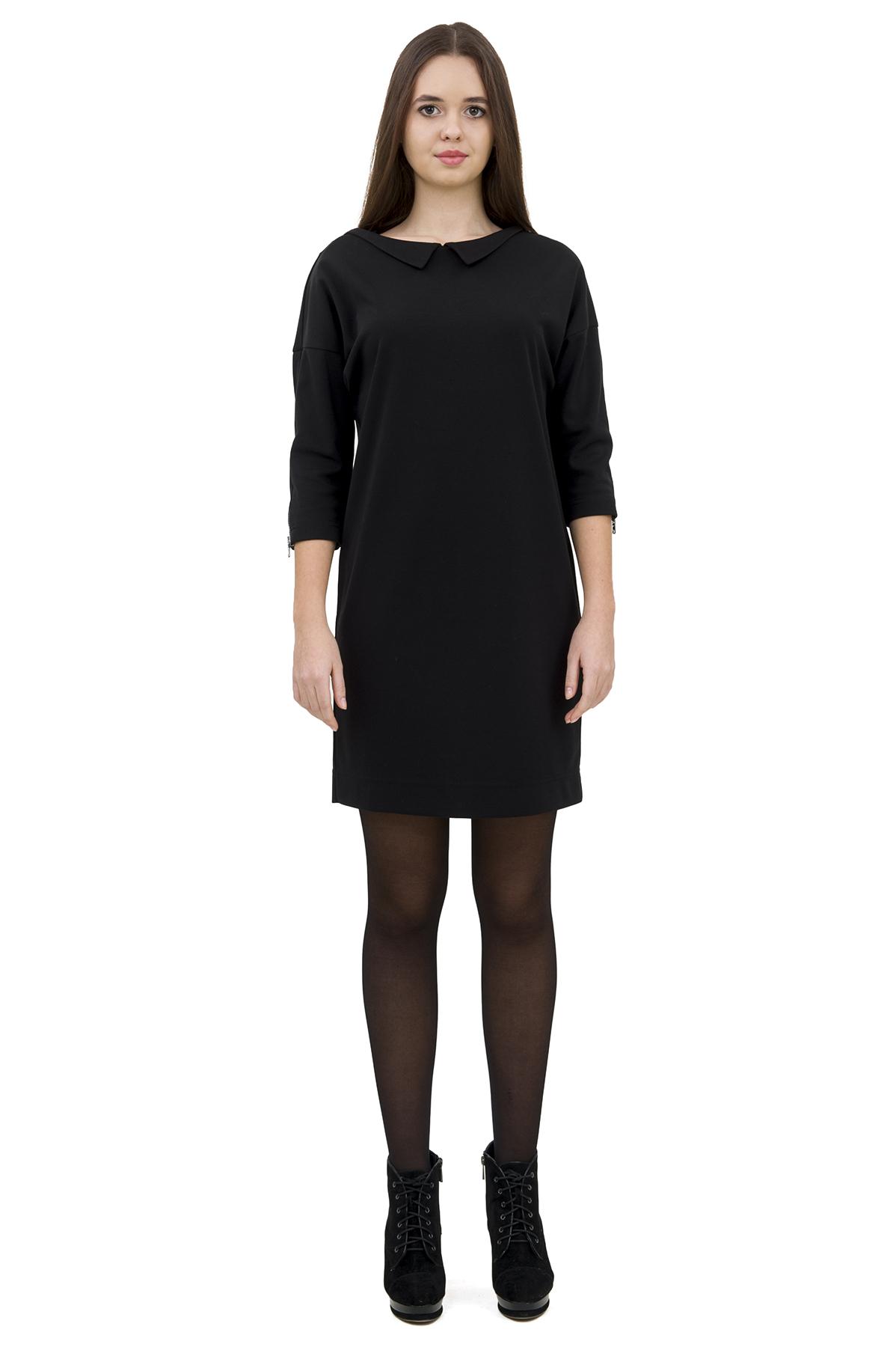 ПлатьеПлатья,  сарафаны<br>Привлекательное платье, выполненное из комфортного материала.  Изделие соблазнительной длины подчеркнет стройность и красоту Ваших ног.<br><br>Цвет: черный<br>Состав: 60% вискоза; 35% полиэстер; 5% эластан<br>Размер: 40,42<br>Страна дизайна: Россия<br>Страна производства: Россия