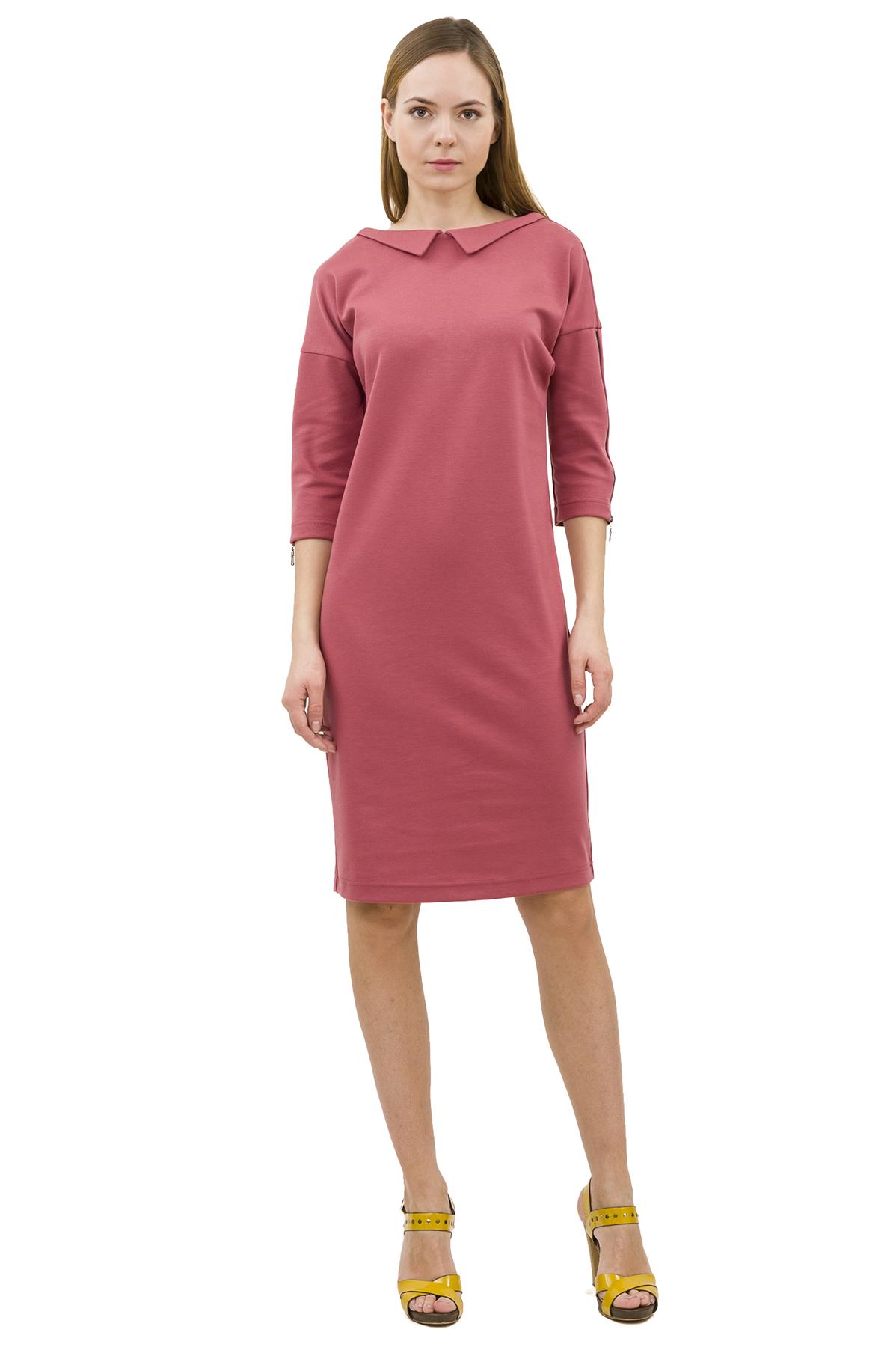 ПлатьеПлатья,  сарафаны<br>Изысканное трикотажное платье преобразит любую девушку, придав ее образу неповторимую чувственность. Добавьте в свой гардероб нотку настоящего изысканного шика вместе с этим ярким стильным очаровательным платьем!<br><br>Цвет: розовый<br>Состав: 60% вискоза; 35% полиэстер; 5% эластан<br>Размер: 48<br>Страна дизайна: Россия<br>Страна производства: Россия