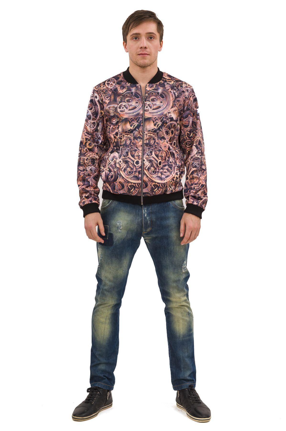 КурткаКуртки, пальто, ветровки<br>Стильный образ Вам поможет создать великолепная трикотажная куртка с длинными рукавами в актуальной яркой расцветке. Модель станет незаменимой вещью в мужском гардеробе.  Отличный вариант на каждый день. Коллекция Пуходелические сны осень-зима 2014/2014<br><br>Цвет: медный<br>Состав: 50%хлопок, 30%полиэстер, 17%вискоза, 3%эластан<br>Размер: 44,46,48,50,54,56,58,60<br>Страна дизайна: Россия<br>Страна производства: Россия