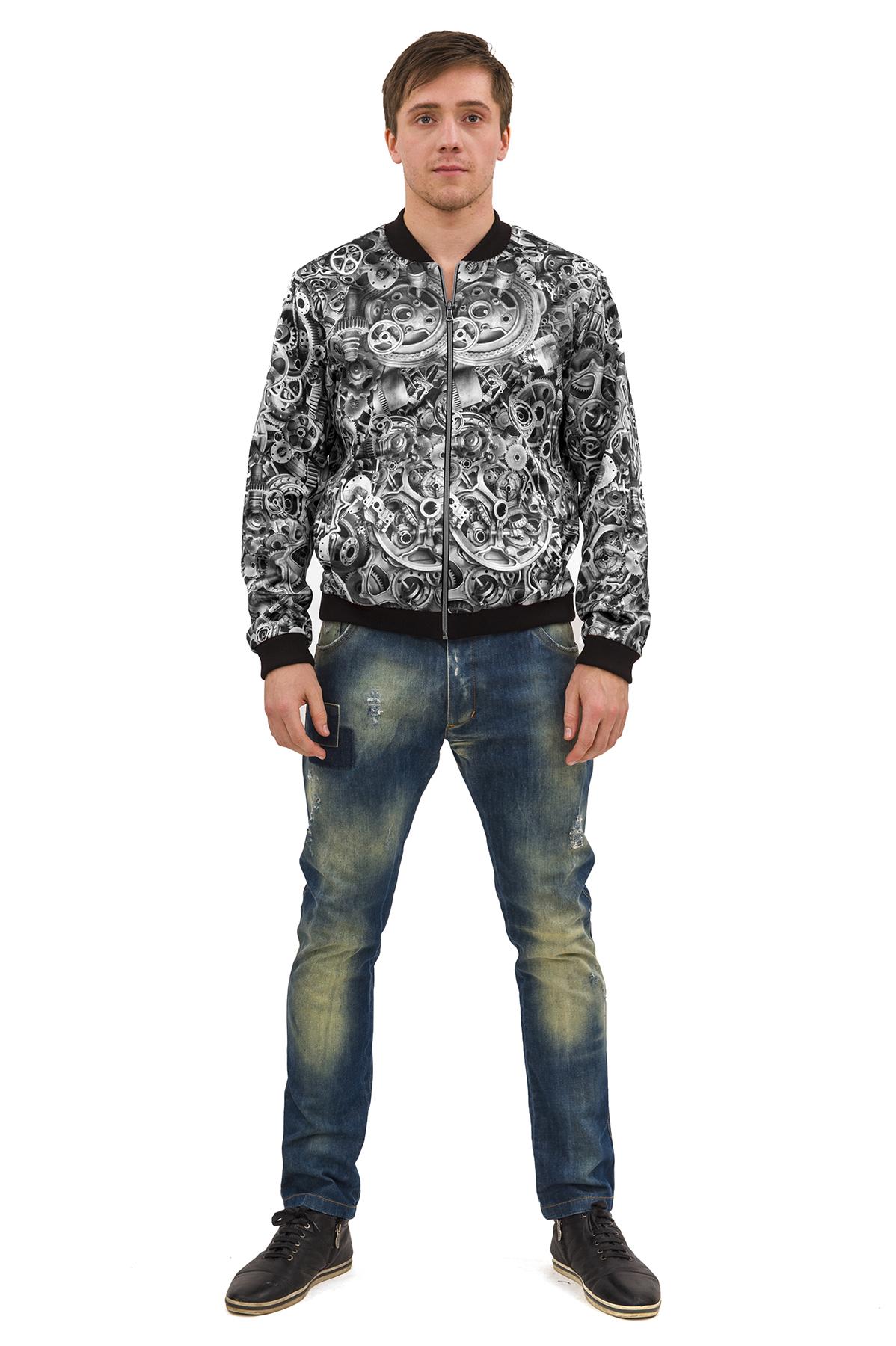 КурткаКуртки, пальто, ветровки<br>Стильный образ Вам поможет создать великолепная трикотажная куртка с длинными рукавами в актуальной яркой расцветке. Модель станет незаменимой вещью в мужском гардеробе.  Отличный вариант на каждый день. Коллекция Пуходелические сны осень-зима 2014/2014<br><br>Цвет: черный,белый<br>Состав: 50%хлопок, 30%полиэстер, 17%вискоза, 3%эластан<br>Размер: 44,46,48,50,52,54,56,58<br>Страна дизайна: Россия<br>Страна производства: Россия