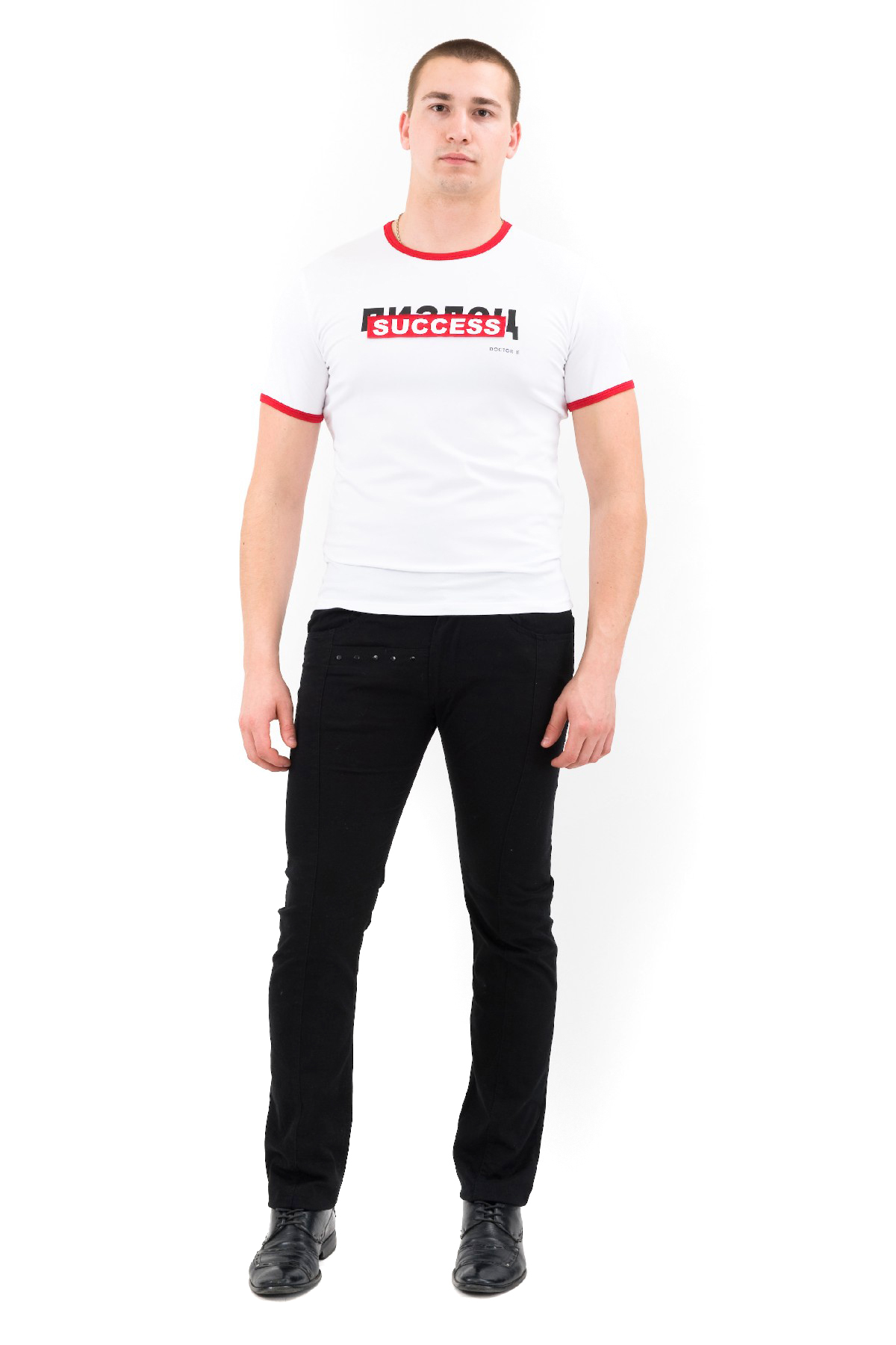 ФутболкаМужские футболки, джемпера<br>Футболка – это удобный выбор на каждый день, поэтому она должна быть яркой и стильной, чтобы привнести в повседневный образ красок. Округлый вырез горловины, короткие рукава, эффектный принт - все это футболка Doctor E, из высококачественного трикотажа, н<br><br>Цвет: белый<br>Состав: 92% хлопок, 8% лайкра<br>Размер: 44,46,54,56<br>Страна дизайна: Россия<br>Страна производства: Россия