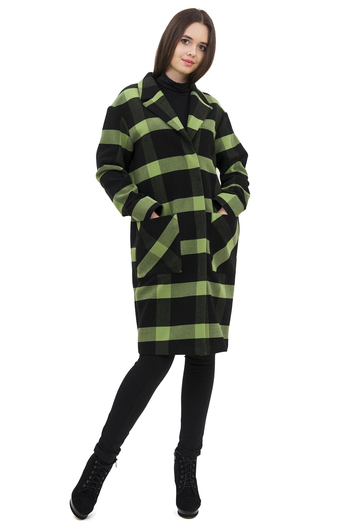 ПальтоЖенские куртки, плащи, пальто<br>Яркое пальто преобразит любую девушку, придав ее образу неповторимую чувственность. Добавьте в свой гардероб нотку настоящего изысканного шика вместе с этим ярким стильным очаровательным пальто!<br><br>Цвет: зеленый,черный<br>Состав: 62% полиэстер; 33% вискоза; 5% эластан<br>Размер: 40,42,44,46,48,50,52<br>Страна дизайна: Россия<br>Страна производства: Россия