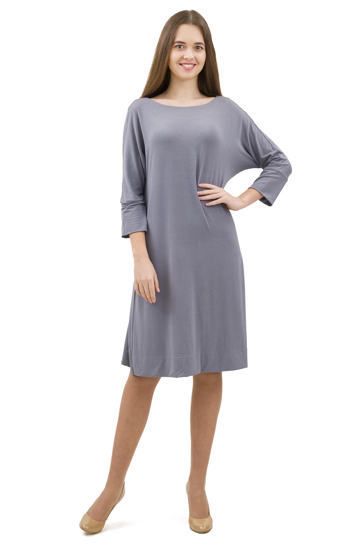 ПлатьеПлатья,  сарафаны<br>Стильное платье выполнено из высококачественного трикотажа. Данная модель удачно подчеркнет красоту Вашей фигуры, а яркая расцветка  не оставит Вас незамеченной.<br><br>Цвет: серый<br>Состав: 92% вискоза; 8% эластан<br>Размер: 40,42,44,46,48,50,52,54,56,58,60<br>Страна дизайна: Россия<br>Страна производства: Россия