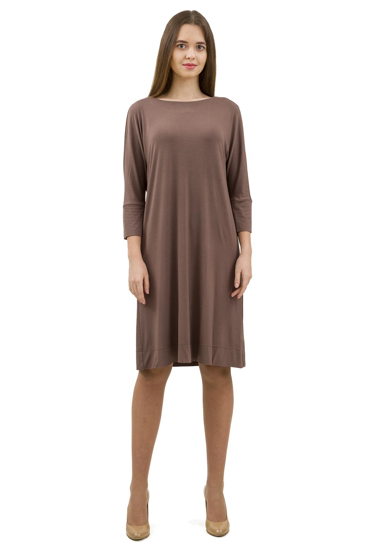 ПлатьеПлатья,  сарафаны<br>Стильное платье выполнено из высококачественного трикотажа. Данная модель удачно подчеркнет красоту Вашей фигуры, а яркая расцветка  не оставит Вас незамеченной.<br><br>Цвет: светло-коричневый<br>Состав: 92% вискоза; 8% эластан<br>Размер: 40,42,44,46,48,50,52,54,56,58,60<br>Страна дизайна: Россия<br>Страна производства: Россия