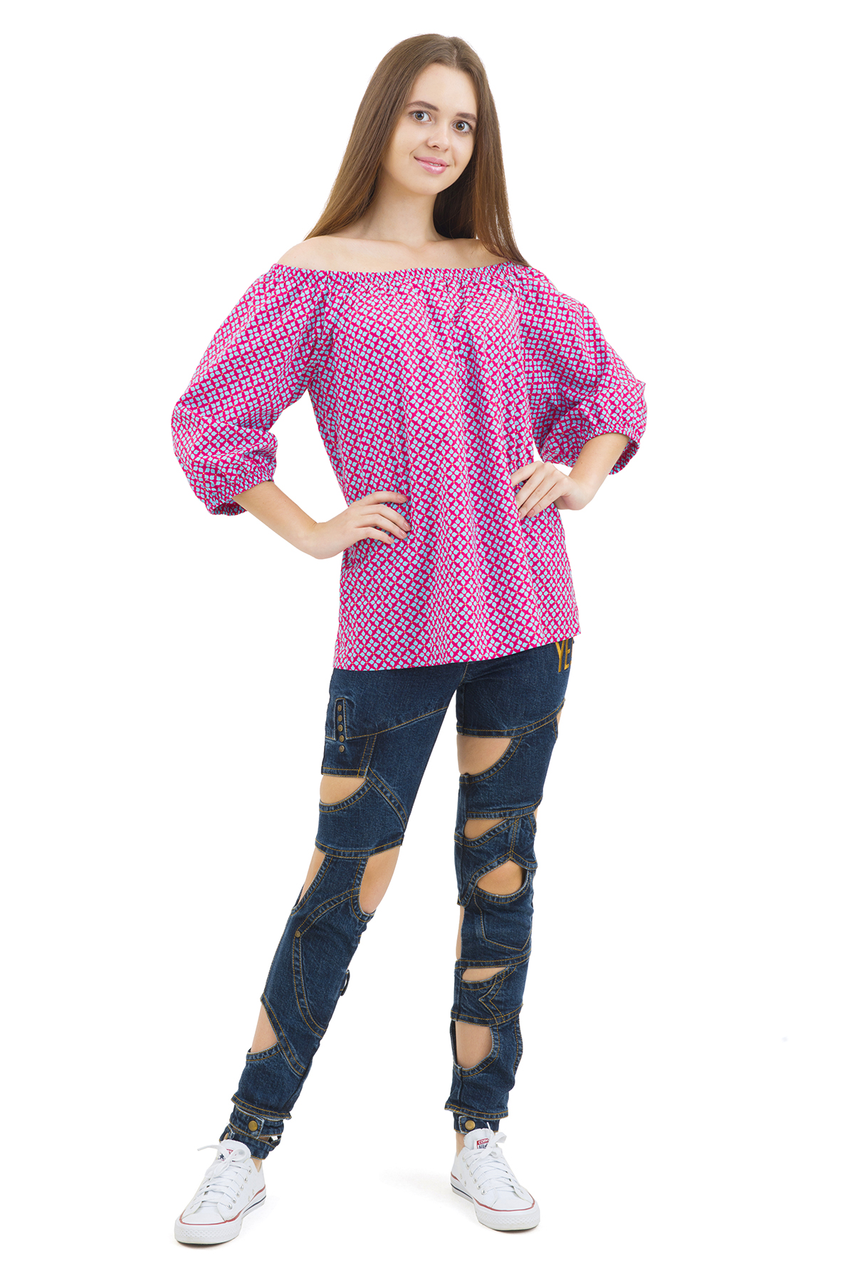 БлузаЖенские блузки<br>Эффектная блузка Doctor E элегантного лаконичного дизайна. Модель выполнена из легкого натурального материала. Восхитительное дополнение к Вашему повседневному гардеробу.<br><br>Цвет: красный,голубой<br>Состав: 100% хлопок<br>Размер: 40,42,44,46,48,50,52,54,56,58,60<br>Страна дизайна: Россия<br>Страна производства: Россия