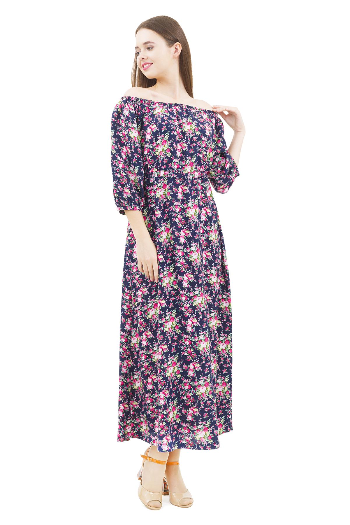 ПлатьеПлатья,  сарафаны<br>Стильное платье актуальной длины   для ярких и уверенных в своей неотразимости женщин. Изделие прекрасно сочетается со многими элементами гардероба.<br><br>Цвет: темно-синий,розовый<br>Состав: 100% вискоза<br>Размер: 40,42,44,46,48,50,52,54<br>Страна дизайна: Россия<br>Страна производства: Россия