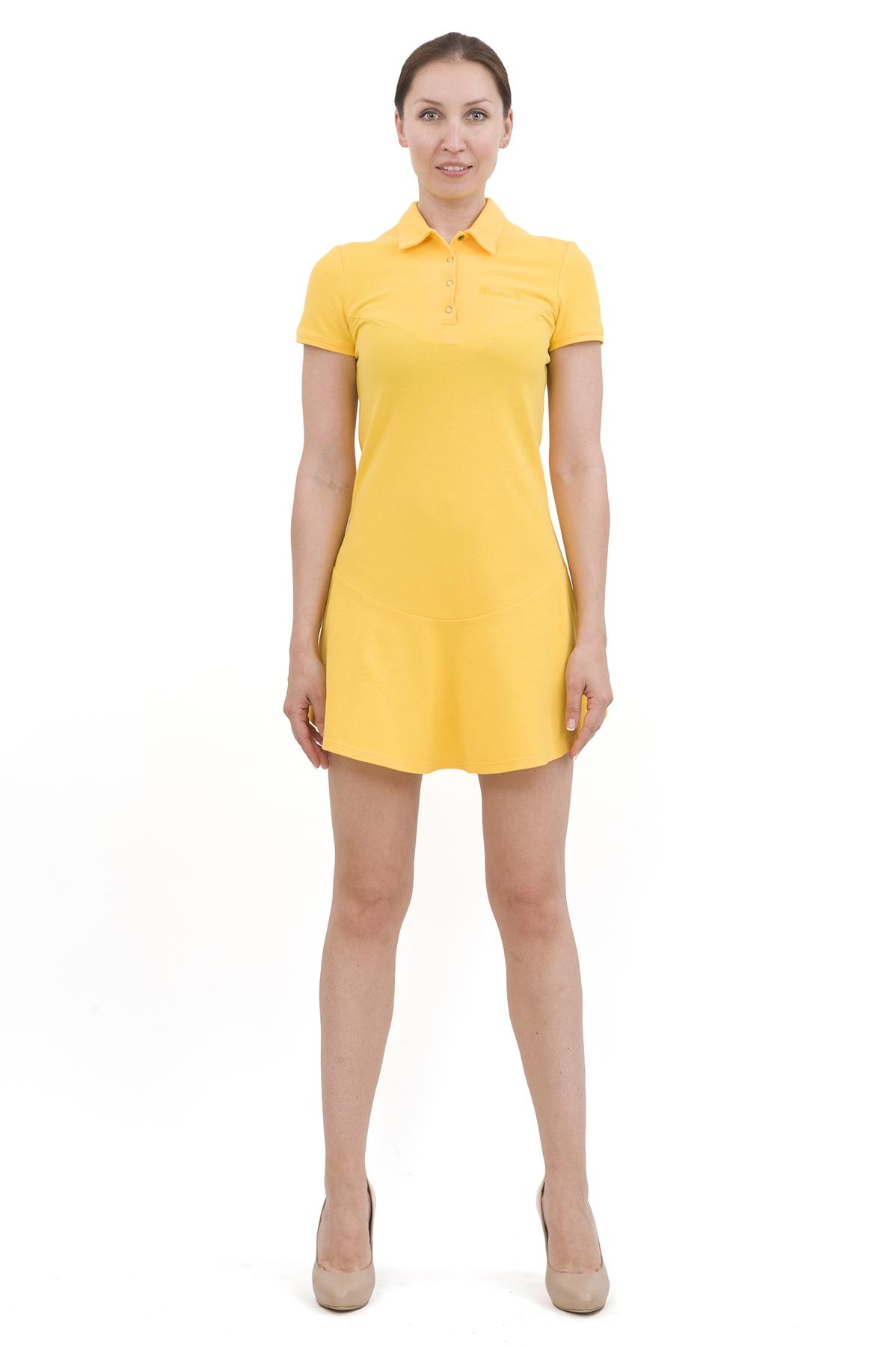 ПлатьеПлатья,  сарафаны<br>Изумительное платье яркой расцветки и оригинального дизайна не оставит Вас незамеченной среди окружающих. Отличный вариант на лето!<br><br>Цвет: желтый<br>Состав: 100% хлопок<br>Размер: 40,42,44,46,48,50,52,54,56,58,60<br>Страна дизайна: Россия<br>Страна производства: Россия