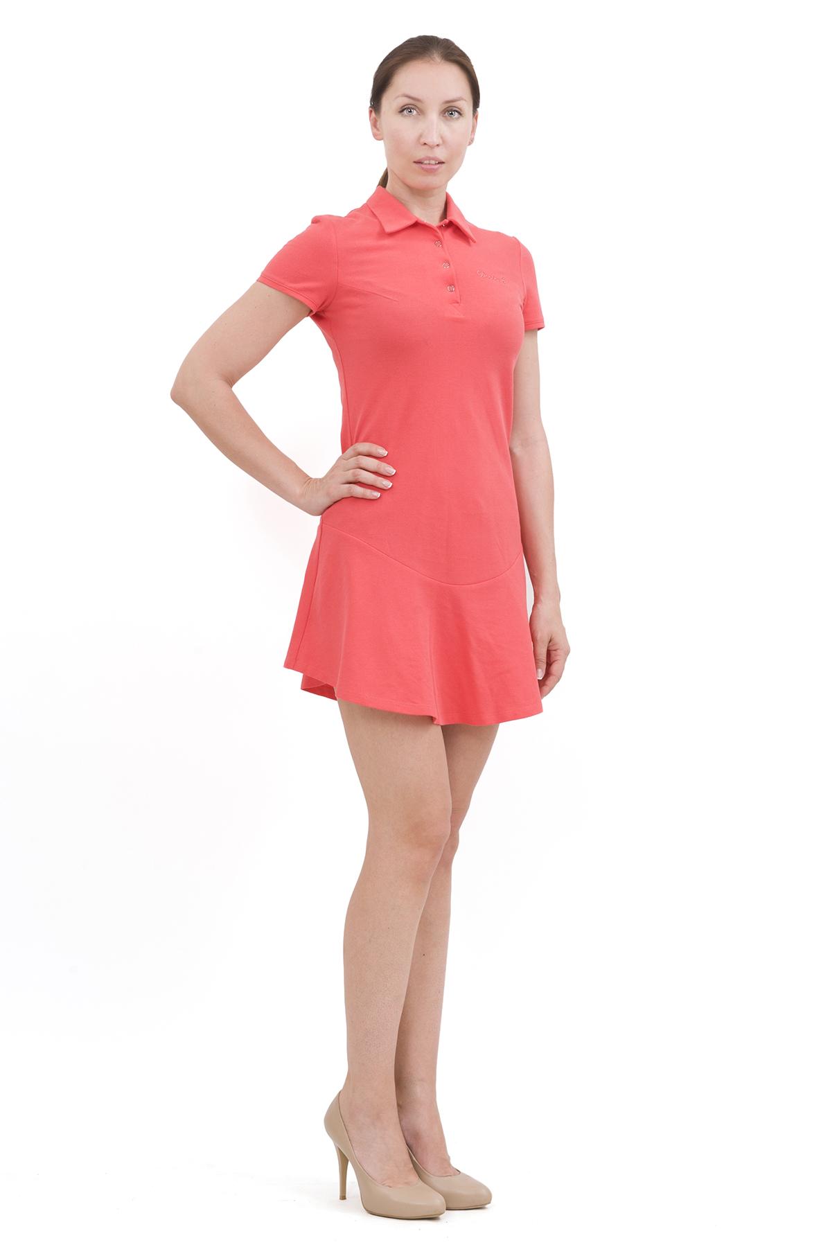 ПлатьеПлатья,  сарафаны<br>Изумительное платье яркой расцветки и оригинального дизайна не оставит Вас незамеченной среди окружающих. Отличный вариант на лето!<br><br>Цвет: коралловый<br>Состав: 100% хлопок<br>Размер: 40,42,44,46,48,50,52,54,56,58,60<br>Страна дизайна: Россия<br>Страна производства: Россия