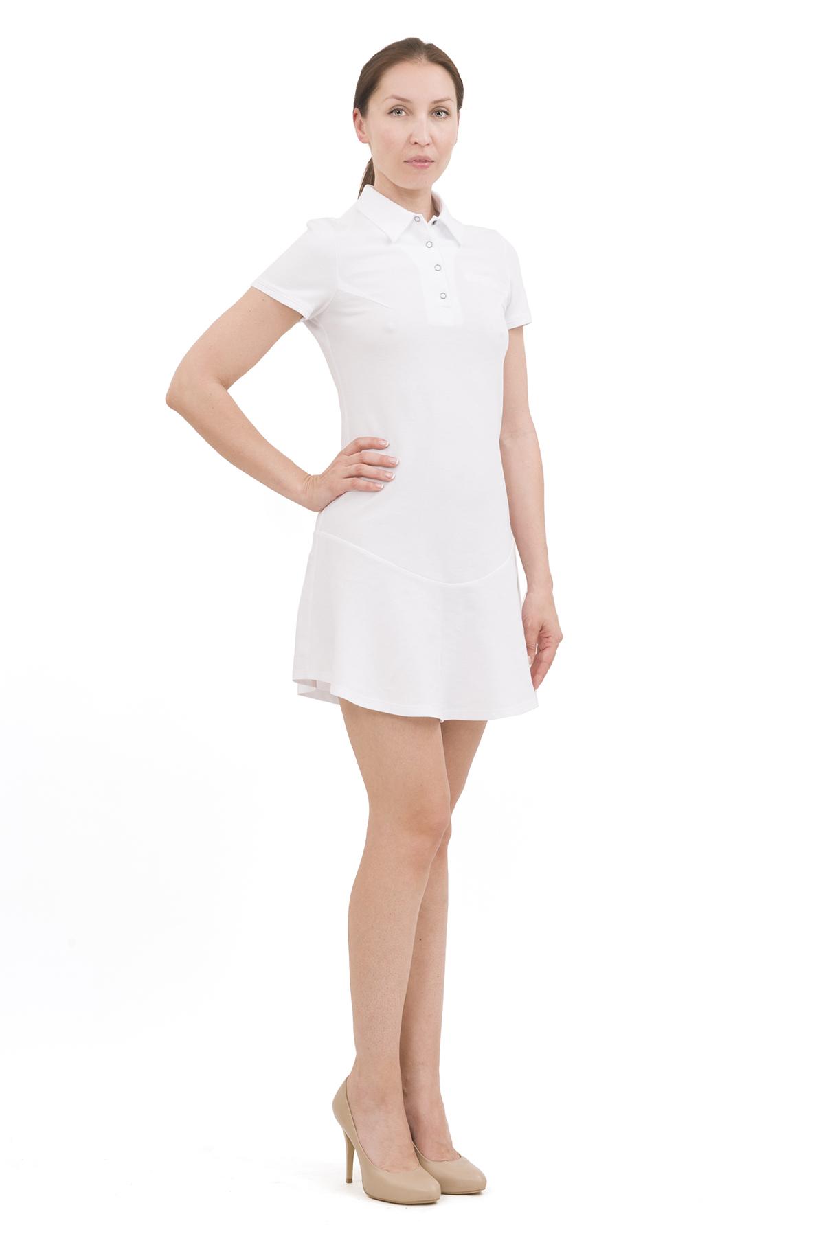 ПлатьеПлатья,  сарафаны<br>Изумительное платье яркой расцветки и оригинального дизайна не оставит Вас незамеченной среди окружающих. Отличный вариант на лето!<br><br>Цвет: белый<br>Состав: 100% хлопок<br>Размер: 40,42,44,46,48,50,52,54,56,58,60<br>Страна дизайна: Россия<br>Страна производства: Россия