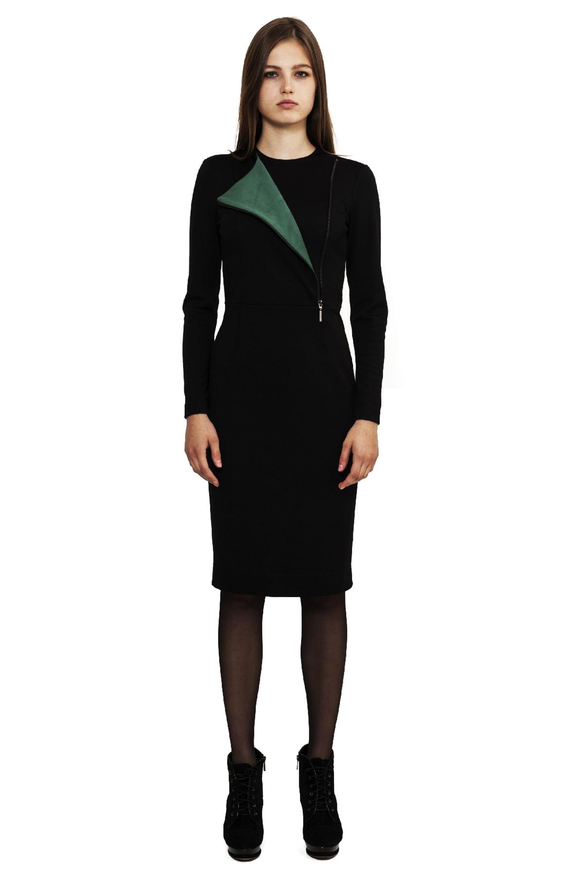ПлатьеПлатья,  сарафаны<br>Замечательное платье, выполненное из приятного материала. Модель подчеркнет Ваш изысканный вкус и стиль. Отличный вариант на каждый день.<br><br>Цвет: черный,зеленый<br>Состав: 60% вискоза, 35% полиэстер, 5% лайкра<br>Размер: 40,42,44,46,48,52,54,56,58,60<br>Страна дизайна: Россия<br>Страна производства: Россия
