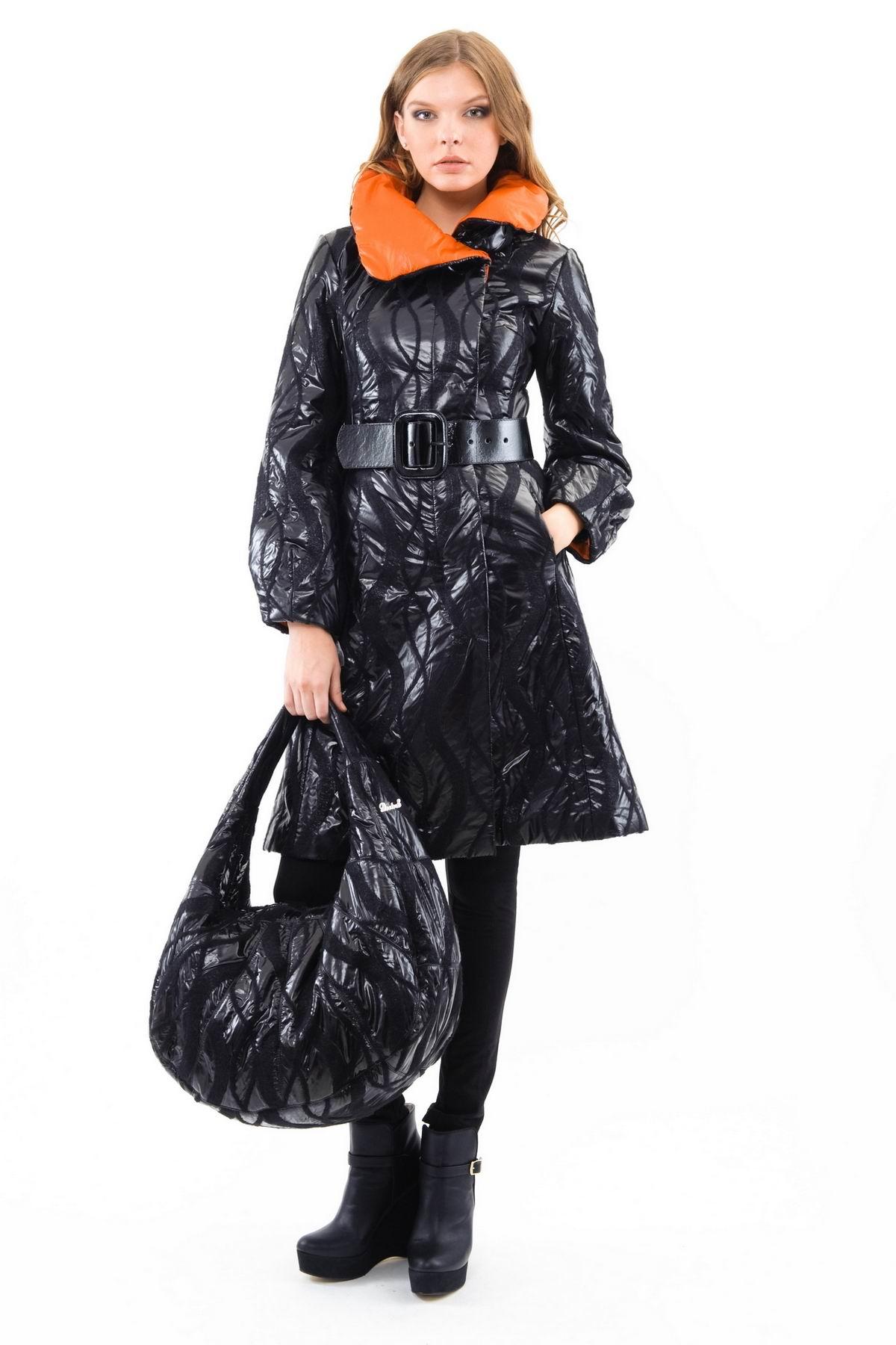 ПальтоЖенские куртки, плащи, пальто<br>Воплотить элегантную мечту в жизнь просто, если иметь в своем гардеробе такое роскошное пальто приталенного силуэта за счет интересной фактуры ткани. Классическая расцветка и лаконичный дизайн лишь подчеркнут Вашу безупречность.<br><br>Цвет: черный,оранжевый<br>Состав: 54% шерсть ,21% полиамид ,  20% полиэстер, 5% полиуретан<br>Размер: 42,44,48,50,52,54<br>Страна дизайна: Россия<br>Страна производства: Россия