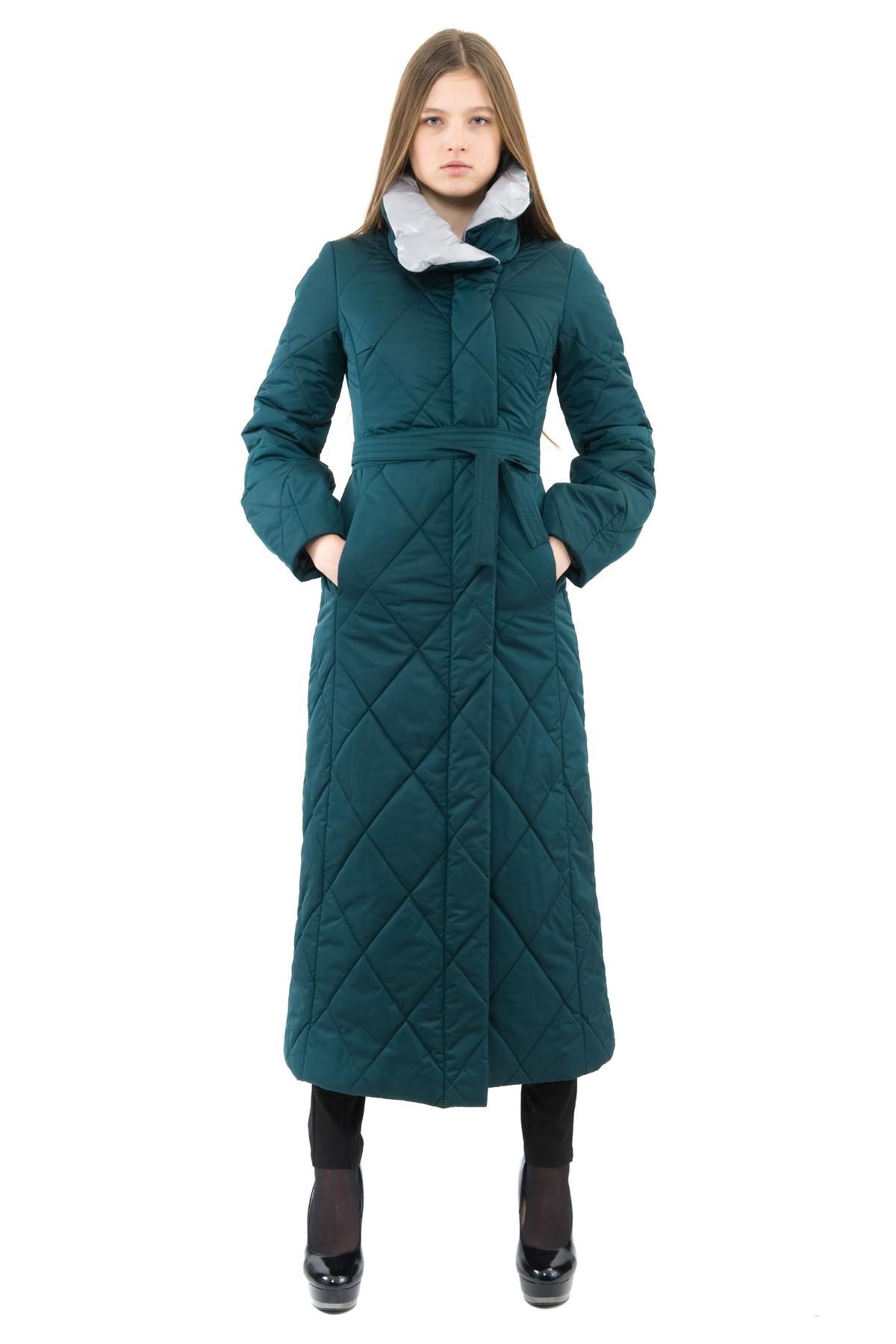 ПальтоЖенские куртки, плащи, пальто<br>Восхитительный вариант для тех, кто предпочитает стильные решения - элегантное пальто сдержанного модного дизайна, который подчеркнет Ваш безупречный вкус. Прекрасный вариант для создания элегантного образа.<br><br>Цвет: зеленый,серый<br>Состав: 100% полиэстер: подкладка - 100% полиэстер<br>Размер: 46<br>Страна дизайна: Россия<br>Страна производства: Россия