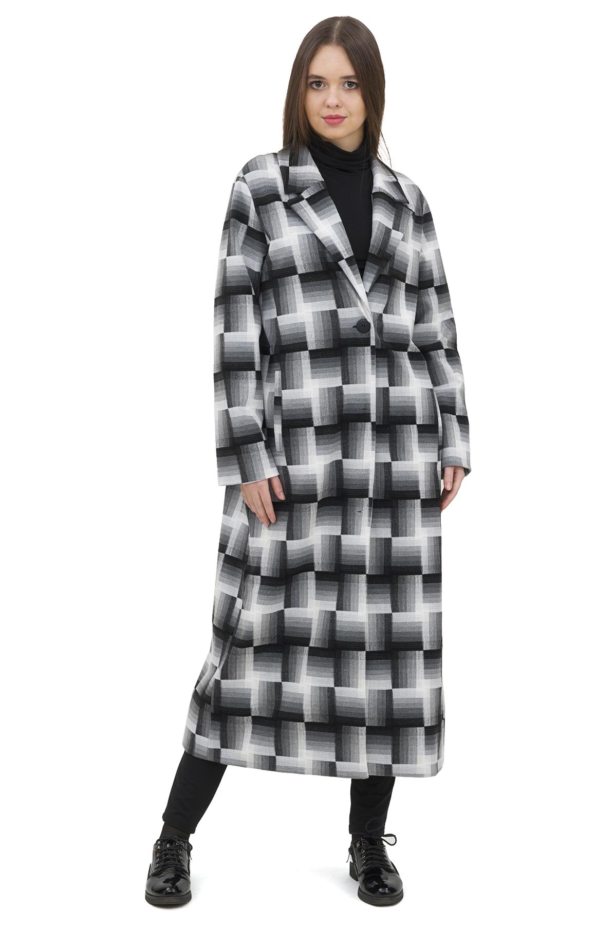 ПальтоЖенские куртки, плащи, пальто<br>Восхитительный вариант для тех, кто предпочитает стильные решения - пальто сдержанного модного дизайна, который подчеркнет Ваш безупречный вкус. Прекрасный вариант для создания стильного образа.<br><br>Цвет: черный,белый<br>Состав: 62% полиэстер; 33% вискоза; 5% эластан<br>Размер: 42,44,46<br>Страна дизайна: Россия<br>Страна производства: Россия