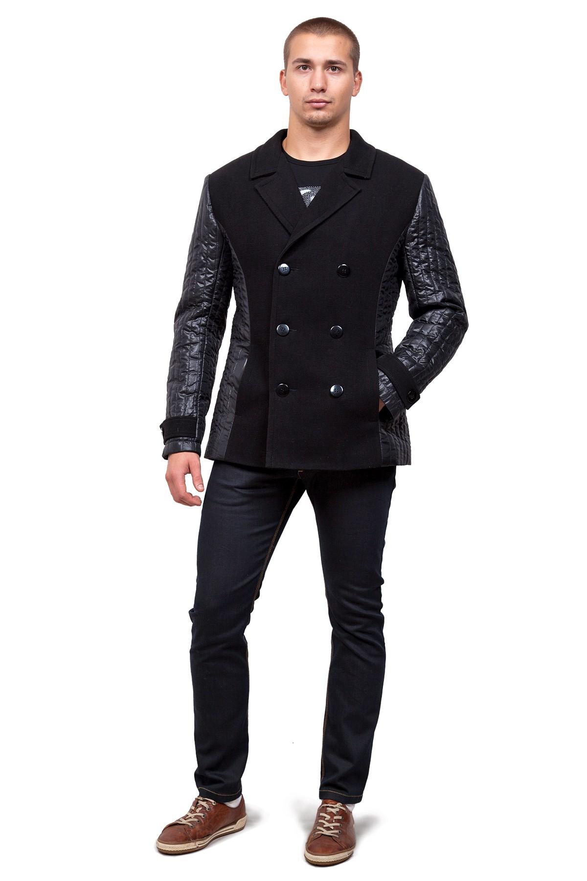 КурткаКуртки, пальто, ветровки<br>Стильная куртка элегантного лаконичного исполнения. Практичный дизайн. Центральная застежка на пуговицы, удобные функциональные карманы. Изысканный вариант на каждый день.<br><br>Цвет: черный<br>Состав: ткань1-65%полиэстер, 18%вискоза, 2%спандекс,15% шерсть; ткань2 -100%полиэстер, подкладка - 100%полиэстер<br>Размер: 58,60<br>Страна дизайна: Россия<br>Страна производства: Россия