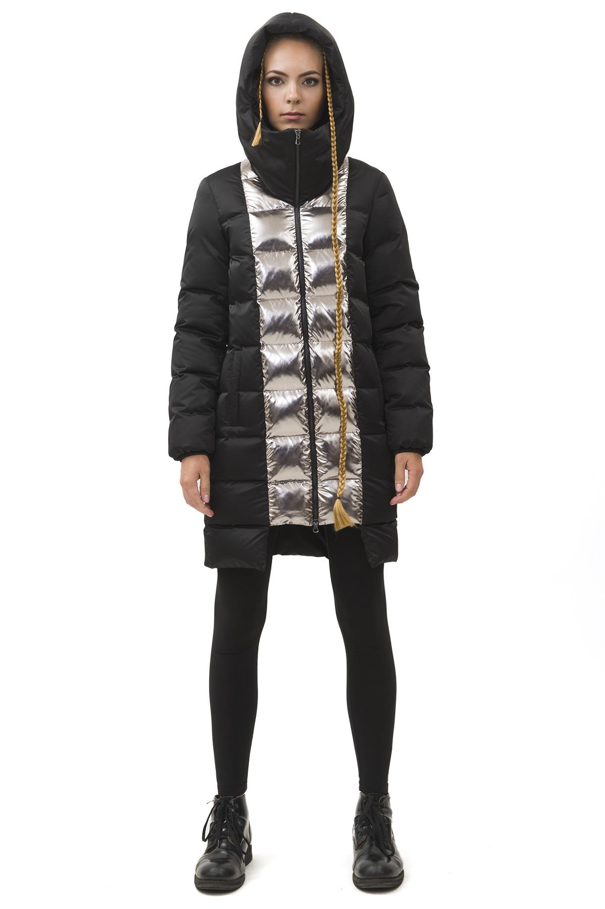 Пальто пуховоеЗимние куртки, пальто, пуховики<br>Пуховик Pavel Yerokin выполнен из материалов различной фактуры. Особенности: прямой крой, застежка на молнии,  капюшон с высокой стойкой, асимметричный низ.<br><br>Цвет: черный,серебристый<br>Состав: Полиэстер - 100% утеплитель: Гусиный пух - 90%, Перо - 10%<br>Размер: 40,42,44,46,48,50,52<br>Страна дизайна: Россия<br>Страна производства: Россия