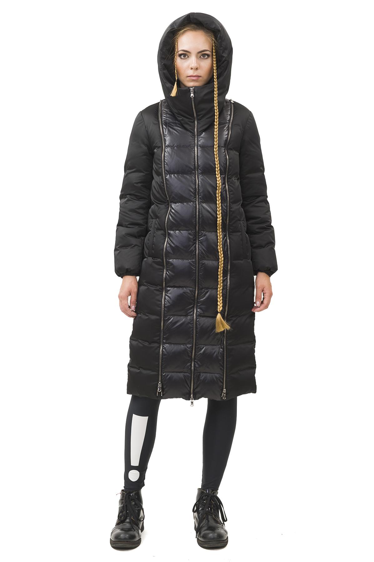 Пальто пуховоеЗимние куртки, пальто, пуховики<br>Пуховик  Pavel Yerokin выполнен из материалов различной фактуры. Особенности: прямой крой, застежка на молнии, капюшон с высокой стойкой.<br><br>Цвет: черный<br>Состав: Материал 1 - Полиэстер - 100%  Материал 2 - Полиэстер - 100% утеплитель: Гусиный пух - 90%, Перо - 10%<br>Размер: 40,42,44,46,48,50,52<br>Страна дизайна: Россия<br>Страна производства: Россия