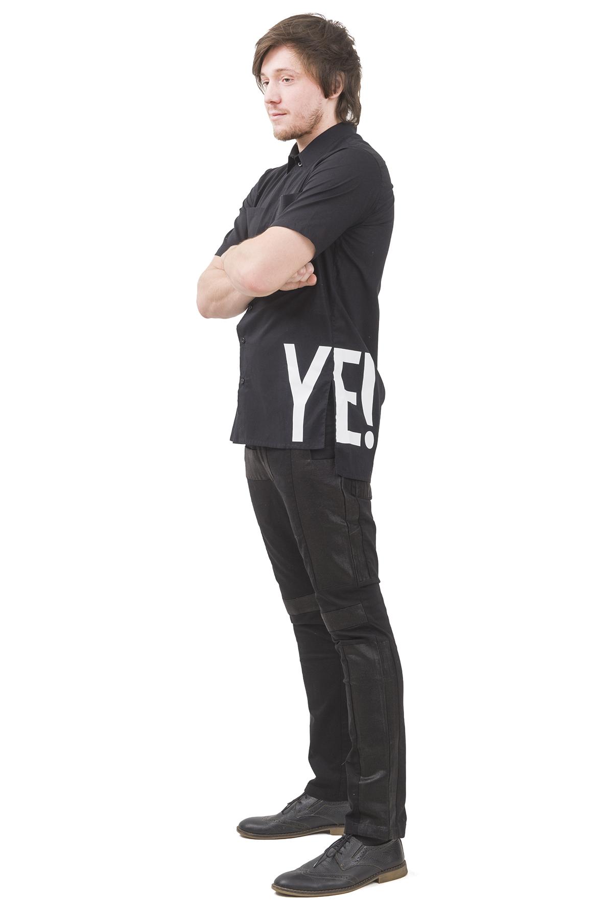 РубашкаМужские рубашки<br>Мужская рубашка бренда Pavel Yerokin выполнена из хлопкового текстиля. Детали: асимметричный низ; планка на пуговицах, два накладных кармана; сбоку принт - логотип бренда.<br><br>Цвет: черный<br>Состав: Хлопок - 100%<br>Размер: 44,46,48,50,52,54,56,58,60<br>Страна дизайна: Россия<br>Страна производства: Россия