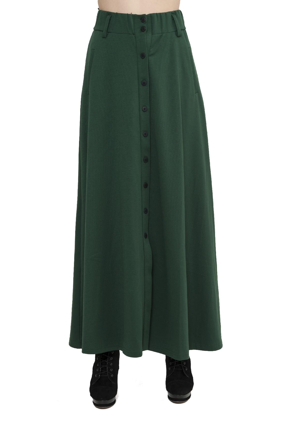 ЮбкаЖенские юбки и брюки<br>Стильная дизайнерская трикотажная юбка. Изделие привнесет в Ваш образ изысканную элегантность. Идеально подойдет как для повседневного, так и для вечернего гардероба.<br><br>Цвет: зеленый<br>Состав: 60% вискоза, 35% полиэстер, 5% лайкра<br>Размер: 40,42<br>Страна дизайна: Россия<br>Страна производства: Россия