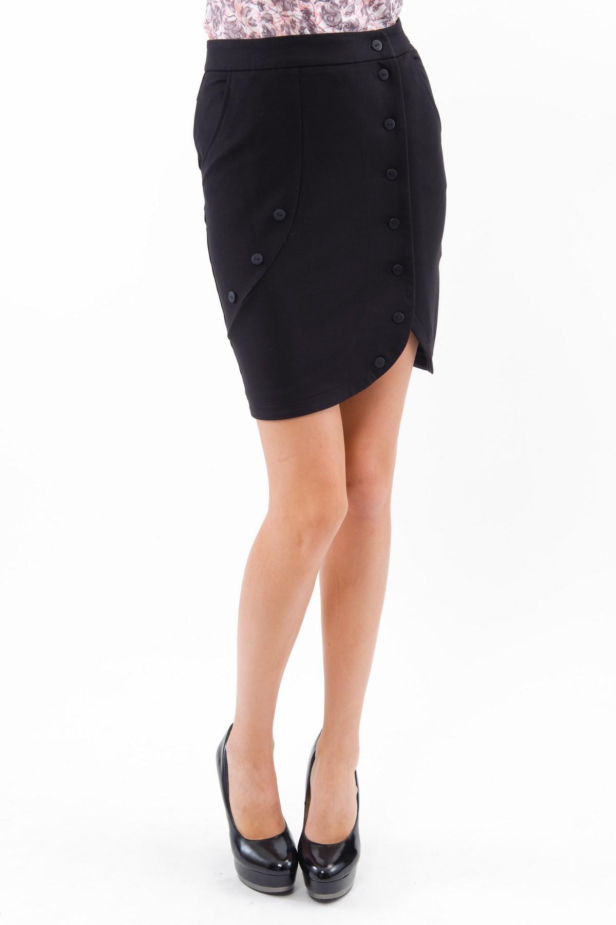 ЮбкаЖенские юбки и брюки<br>Стильная дизайнерская трикотажная юбка. Изделие привнесет в Ваш образ изысканную элегантность. Идеально подойдет как для повседневного, так и для вечернего гардероба.<br><br>Цвет: черный<br>Состав: 75% хлопок, 20% полиэстер, 5% лайкра<br>Размер: 44,46<br>Страна дизайна: Россия<br>Страна производства: Россия
