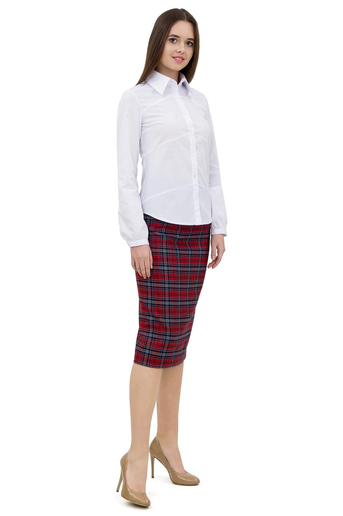 ЮбкаЖенские юбки и брюки<br>Стильная юбка актуальной длины  для ярких и уверенных в своей неотразимости женщин. Изделие прекрасно сочетается со многими элементами гардероба.<br><br>Цвет: красный,синий<br>Состав: 61% полиэстер; 34% вискоза; 5% эластан<br>Размер: 42,44,46,48,50,52<br>Страна дизайна: Россия<br>Страна производства: Россия