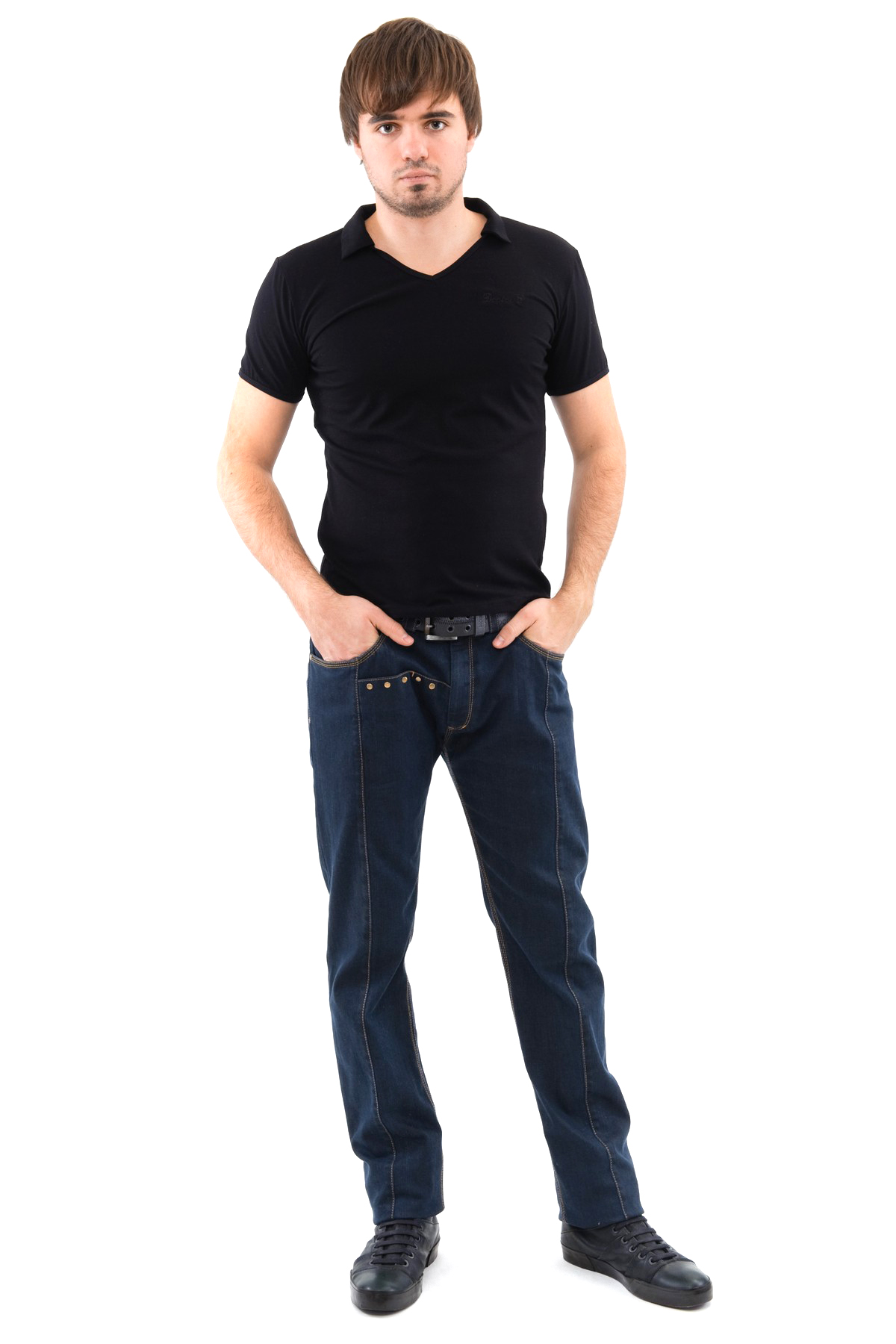 ФутболкаМужские футболки, джемпера<br>Футболка – это удобный выбор на каждый день, поэтому она должна быть яркой и стильной, чтобы привнести в повседневный образ красок. Из высококачественного трикотажа, не вытягивается после стирок, не линяет и не покрывается катышками.<br><br>Цвет: черный<br>Состав: 92% хлопок 8% лайкра<br>Размер: 44,46,48,50,52,54,56,58,60<br>Страна дизайна: Россия<br>Страна производства: Россия