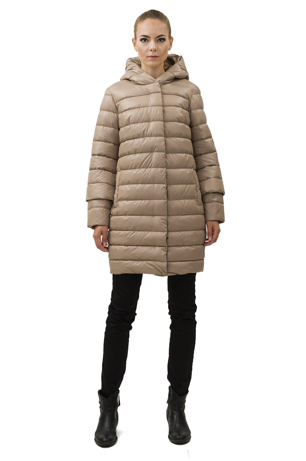ПальтоЗимние куртки, пальто, пуховики<br>В холодный зимний день очень важно ощущение тепла и комфорта. Это тепло может подарить Вам это очаровательное полупальто. модель прекрасно сидит по фигуре. Оригинальность пальто заключается в модной яркой расцветке.<br><br>Цвет: бежевый<br>Состав: 100% полиэстер Подкладка: 100% полиэстер Утеплитель:  синтепух<br>Размер: 40,42,44,46,48,50,52,54,56<br>Страна дизайна: Россия<br>Страна производства: Россия