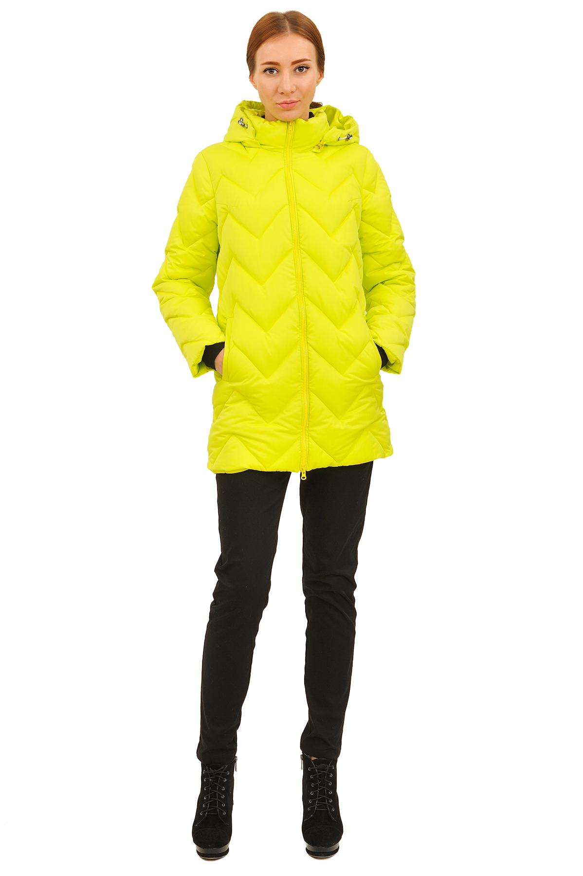 ПуховикЗимние куртки, пальто, пуховики<br>Стильный пуховик с  удобной застежкой на молнию. Утеплитель пуховика выполнен из высококачественного  российского гусиного пуха. Замечательный вабор для ценителей комфорта и  качества.<br><br>Цвет: светло-желтый<br>Состав: 50% хлопок; 50% нейлон утеплитель: синтепух<br>Размер: 44,46,48,50<br>Страна дизайна: Россия<br>Страна производства: Россия
