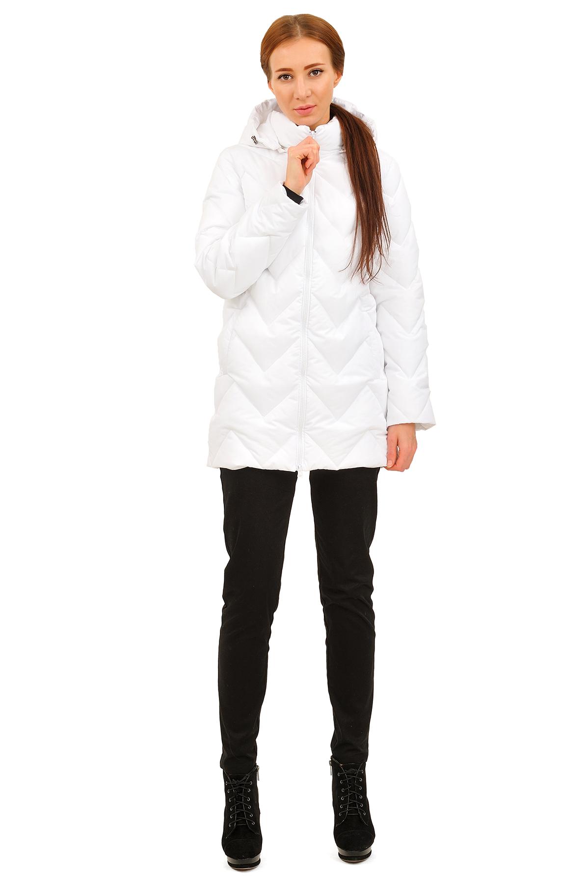 ПуховикЗимние куртки, пальто, пуховики<br>Стильный пуховик с  удобной застежкой на молнию. Утеплитель пуховика выполнен из высококачественного  российского гусиного пуха. Замечательный вабор для ценителей комфорта и  качества.<br><br>Цвет: белый<br>Состав: 50% хлопок; 50% нейлон утеплитель: синтепух<br>Размер: 48,50<br>Страна дизайна: Россия<br>Страна производства: Россия